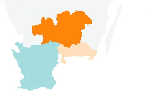 Karta Blekinge Skane.Fastighetsagarna Syd Fastighetsagarna